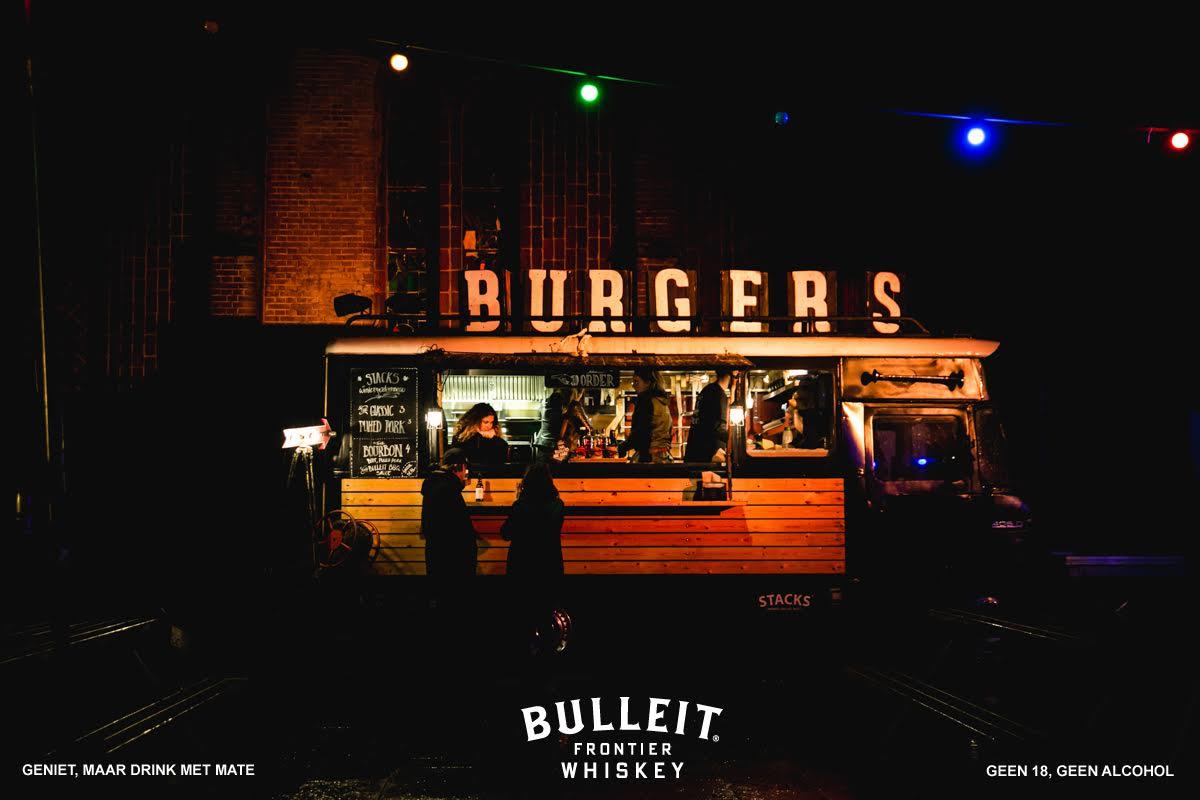 Burgers Stack Bulleit Bourbon cocktails