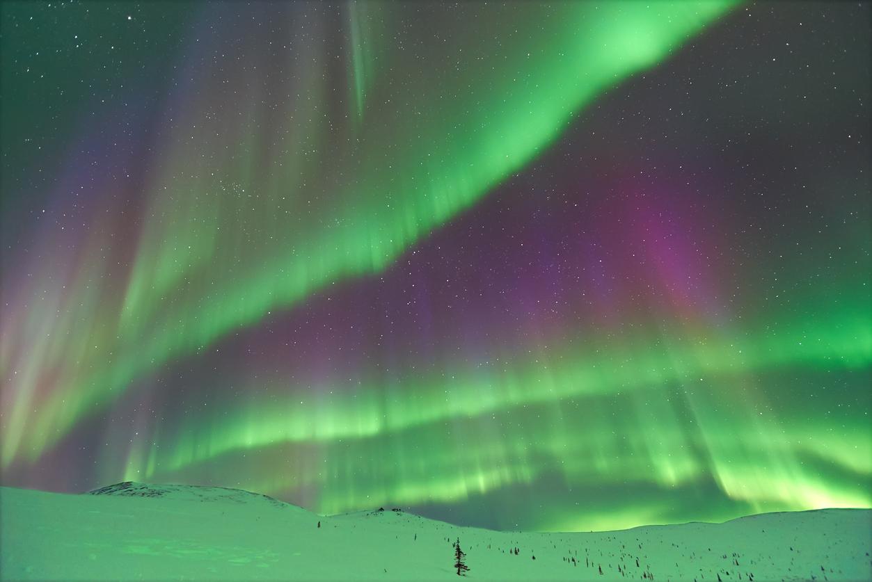 Aurora Borealis at Fairbanks Alaska