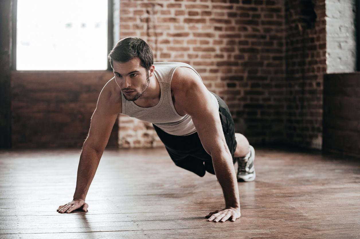 plank push-up MAN MAN