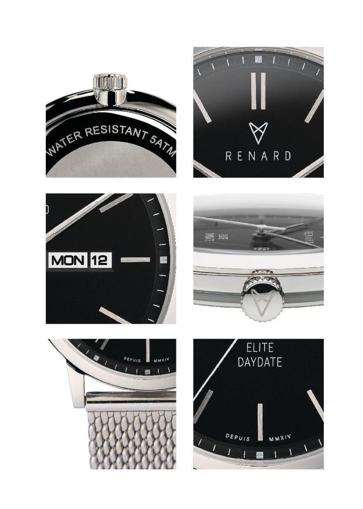 de renard day-date stijlvol horloge MAN-MAN