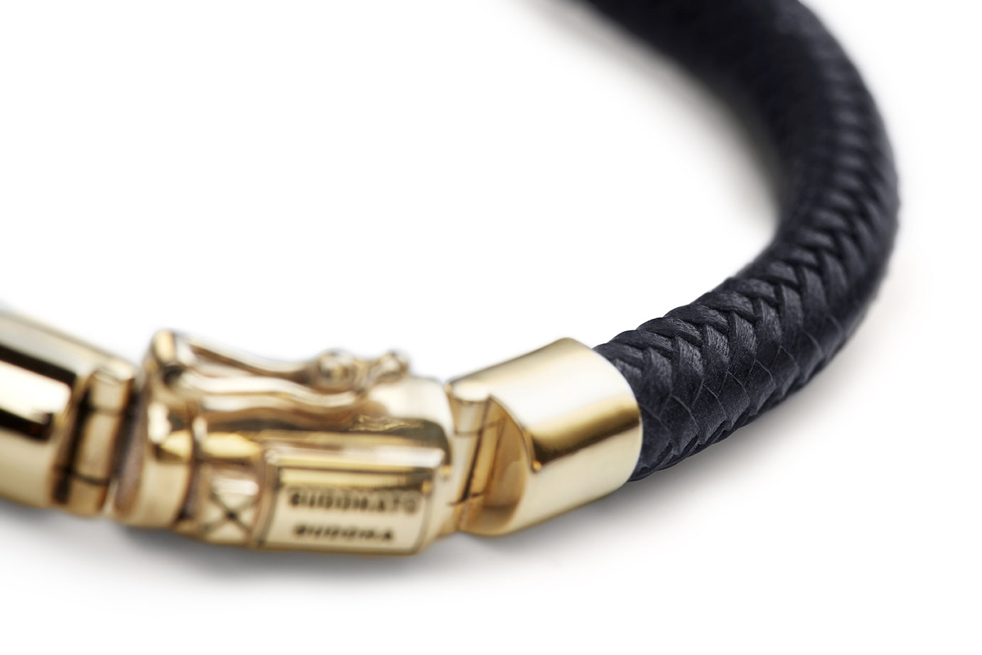 Bennet Gold Leather Bracelet_Detail