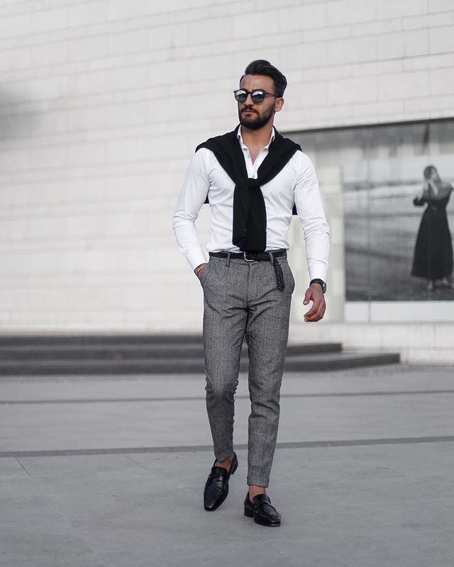 Smart casual loafer look