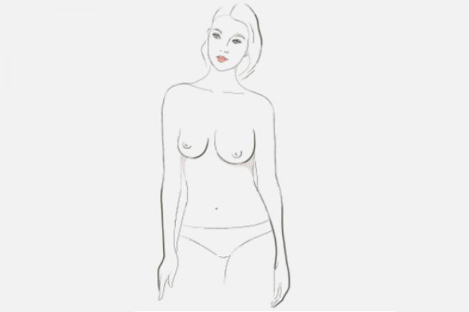 asymmetrische borsten