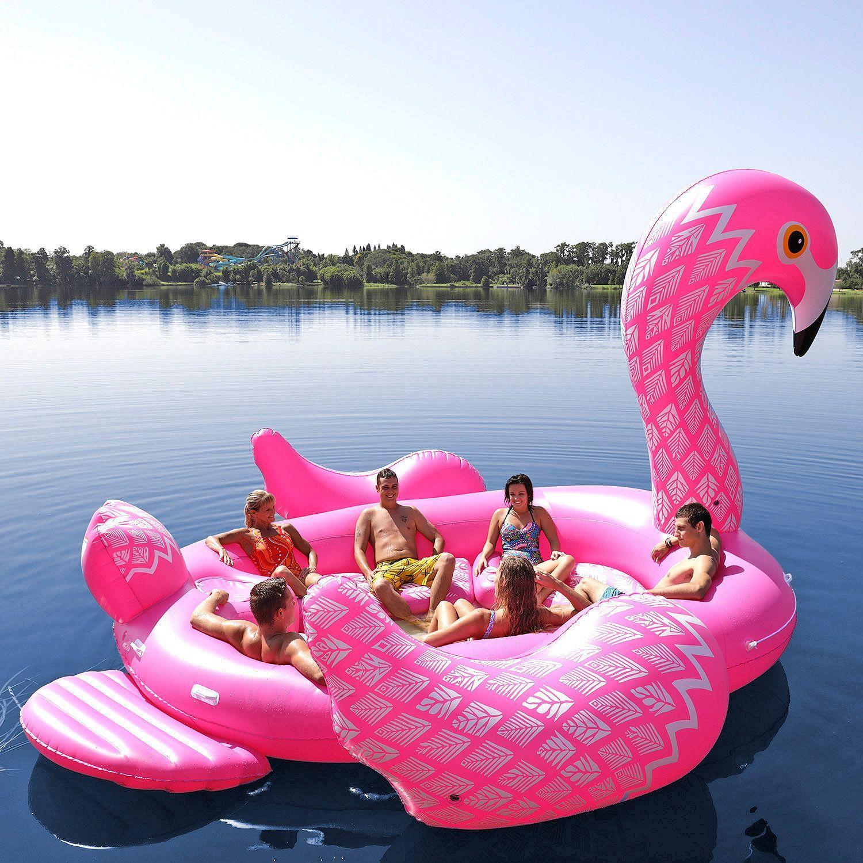 opblaasbare Mega Flamingo Eiland MAN MAN