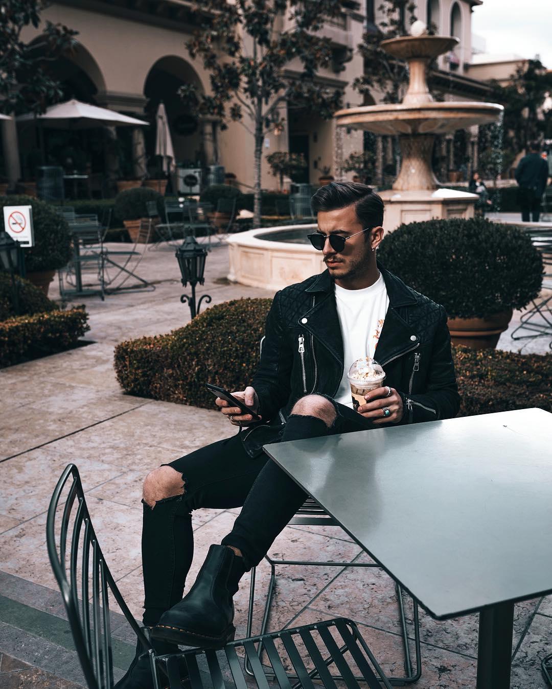 leather jacket kleding feestdagen MAN MAN