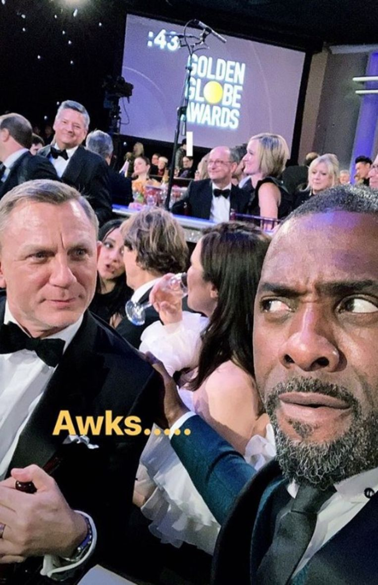 Selfie van Idris Elba James Bond MAN MAN
