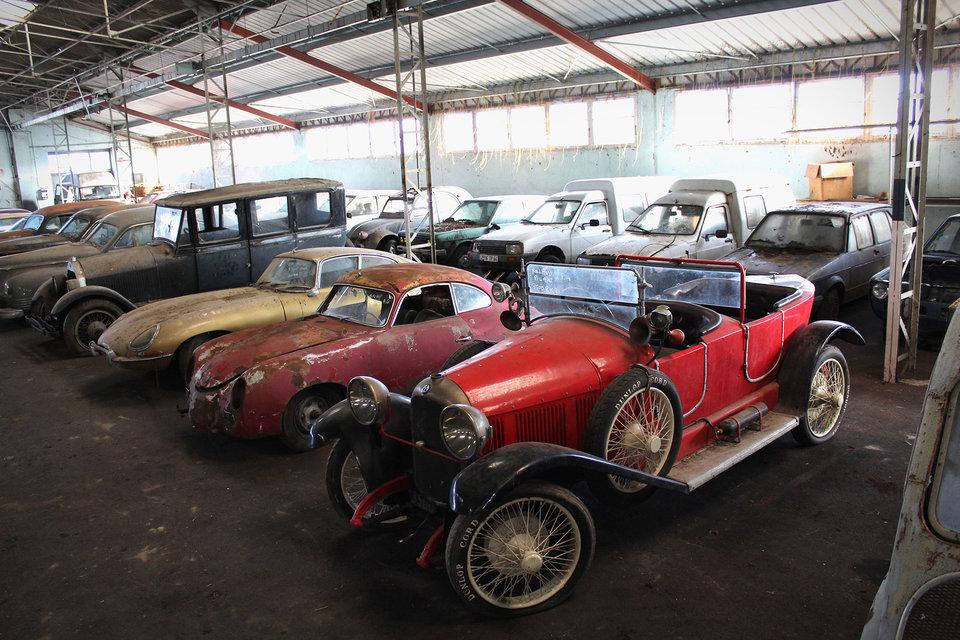 garagevondst vintage autocollectie MAN MAN
