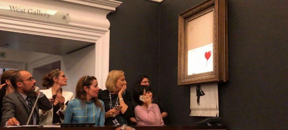 Banksy-schilderij MAN MAN