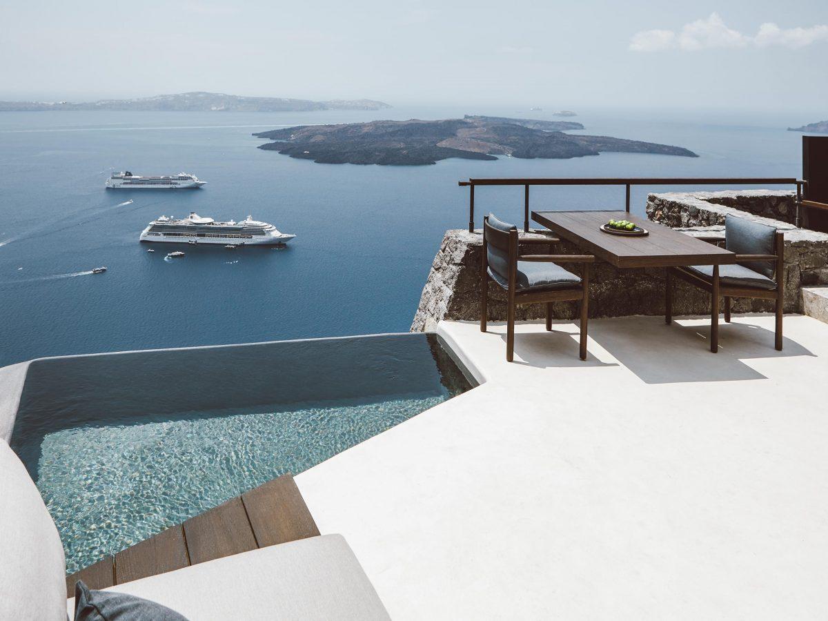 luxe villa Santorini MAN MAN
