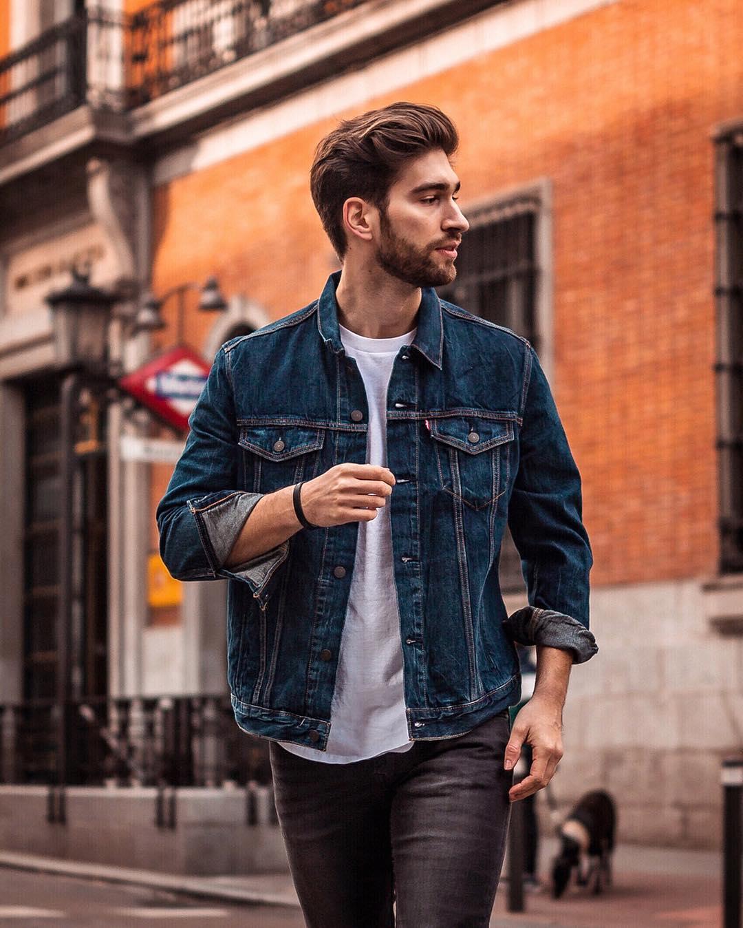 Lente jassen denim jacket mannen MAN MAN