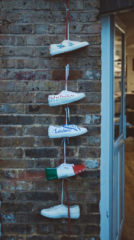 schoenen in wasmachine