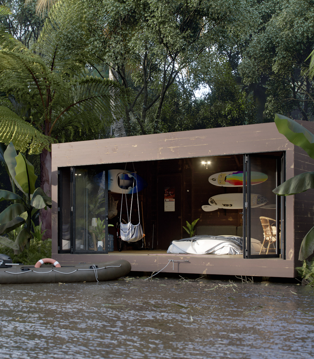 wonen in de jungle
