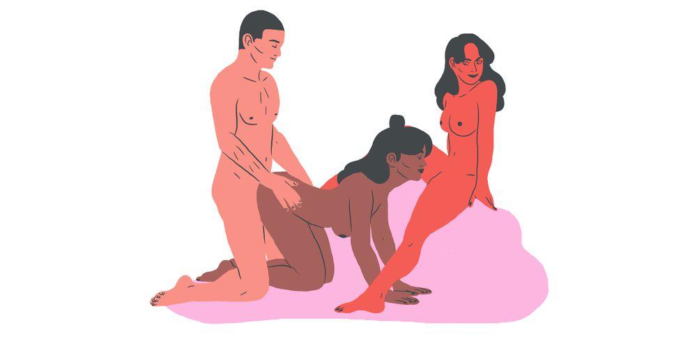 trio met twee vrouwen