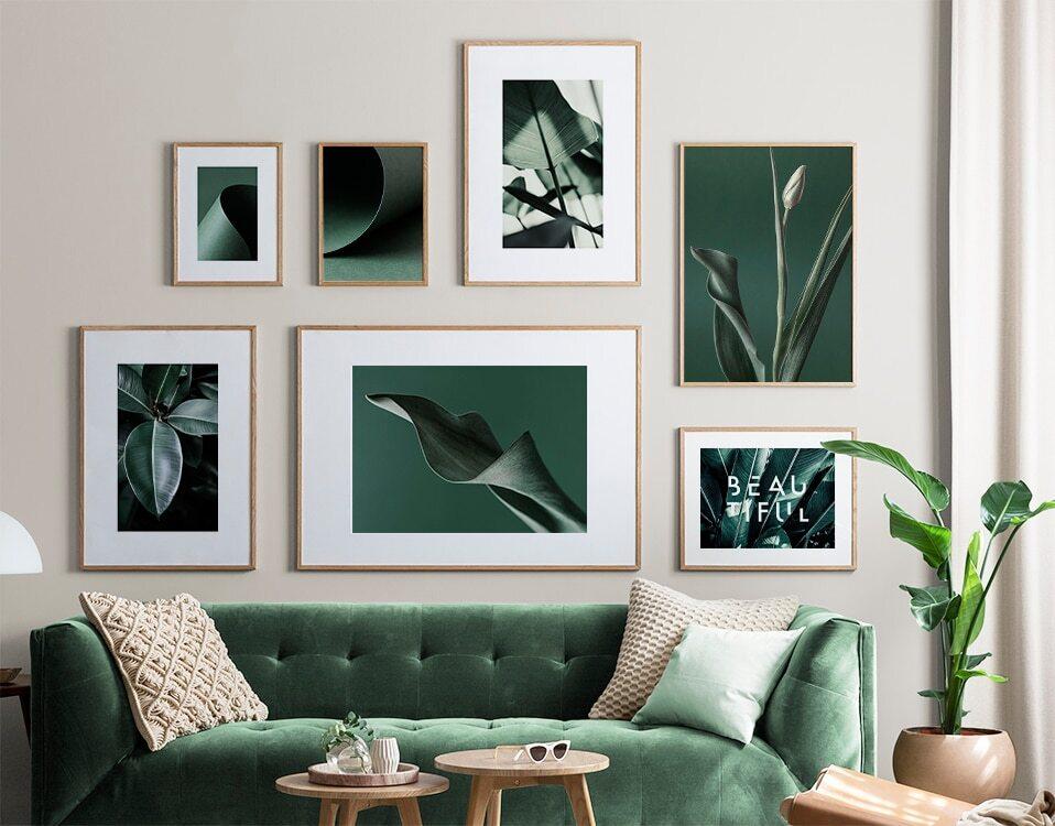 groen schilderij muur
