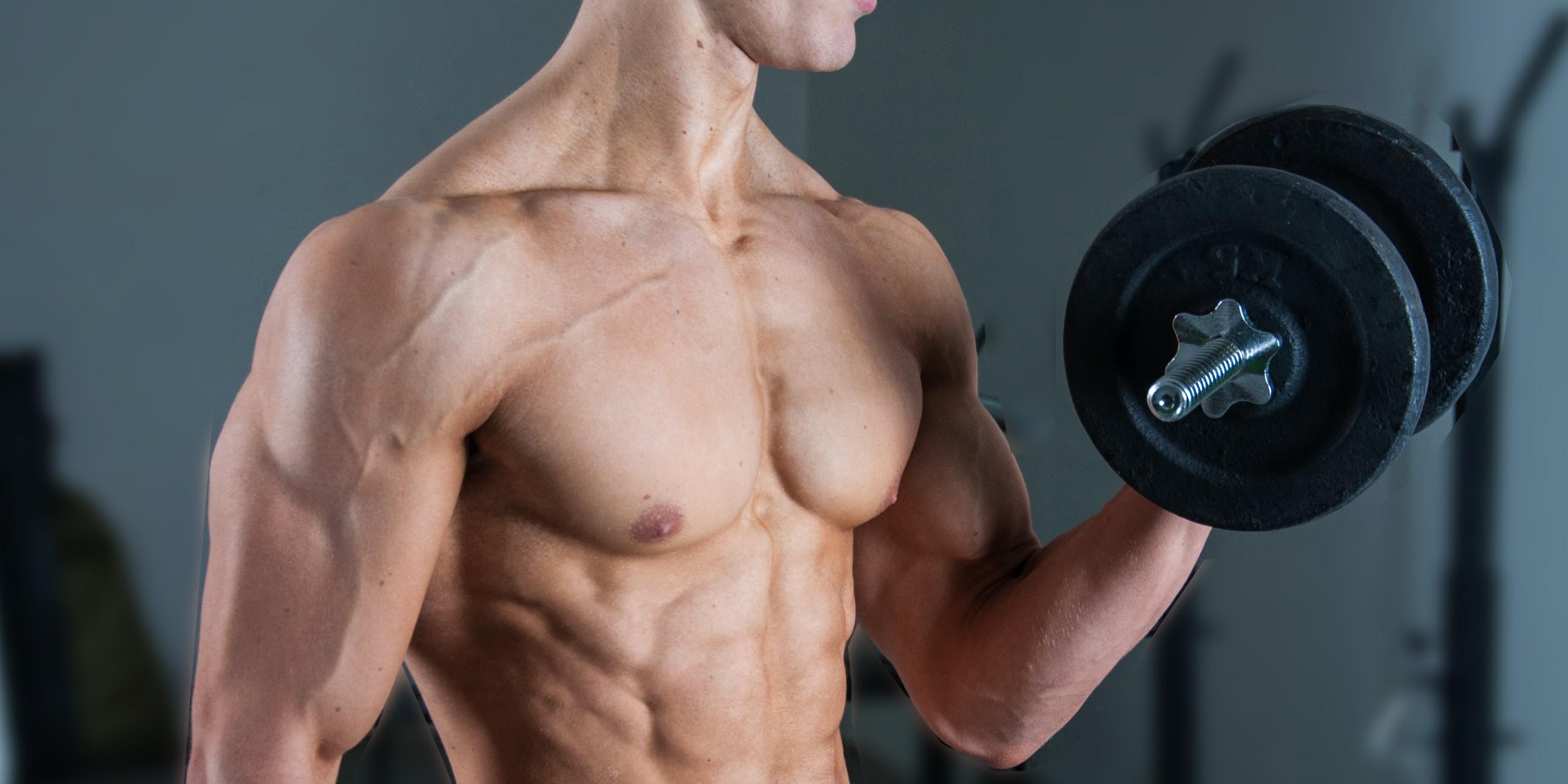 oefeningen biceps trainen gespierde armen