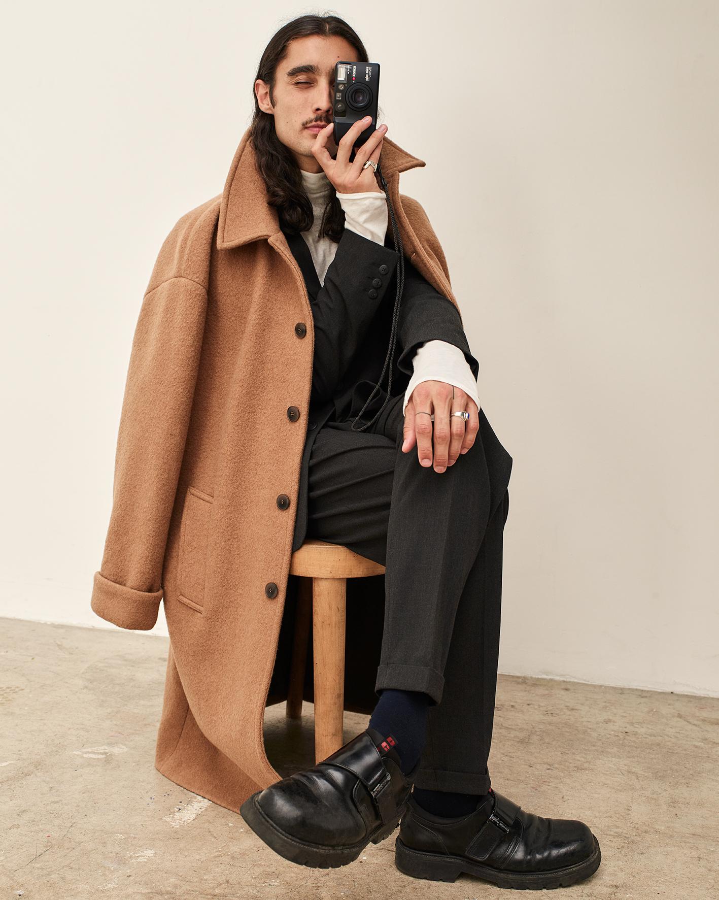 pantalon overcoat outfit heren
