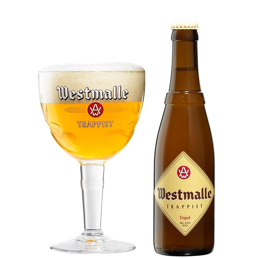 Westmalle tripel lekker blond bier