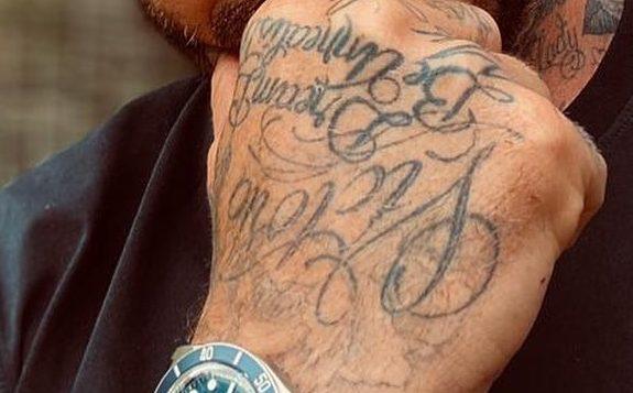 david beckham tattoo hand
