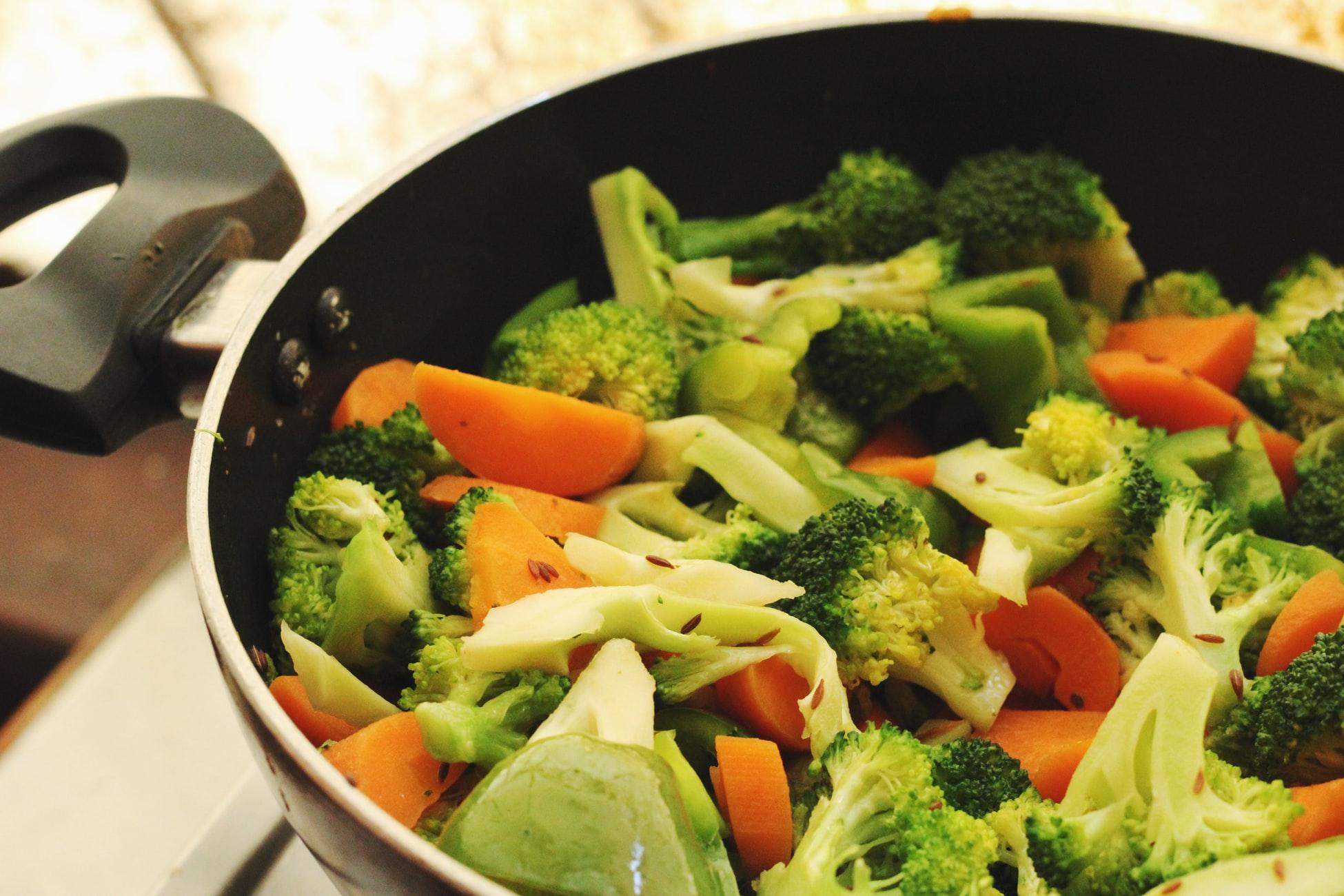 groene groenten niet eten voor het sporten