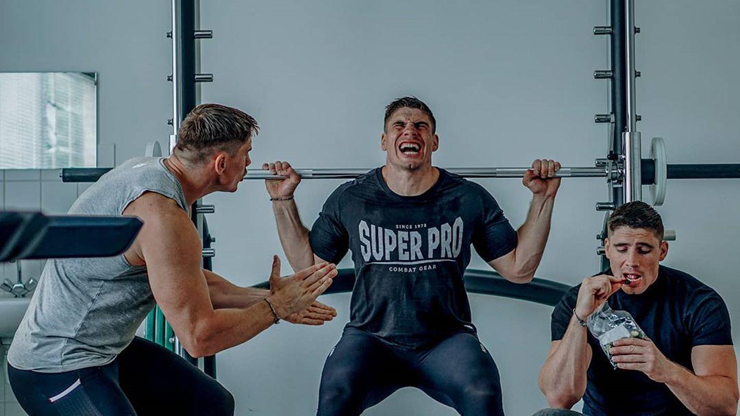 trainen met kampioen zwaargewicht