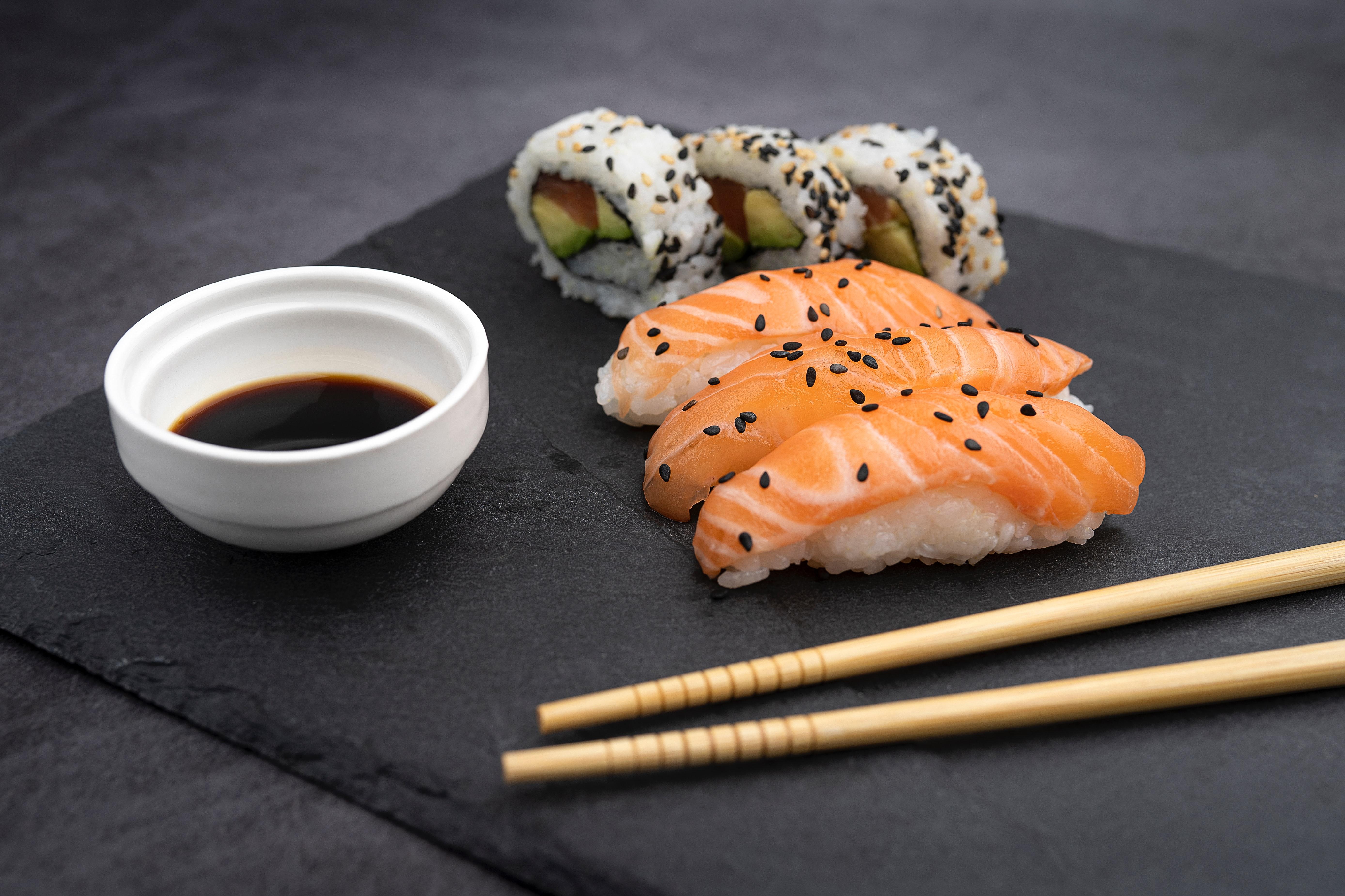 sushi en champagne