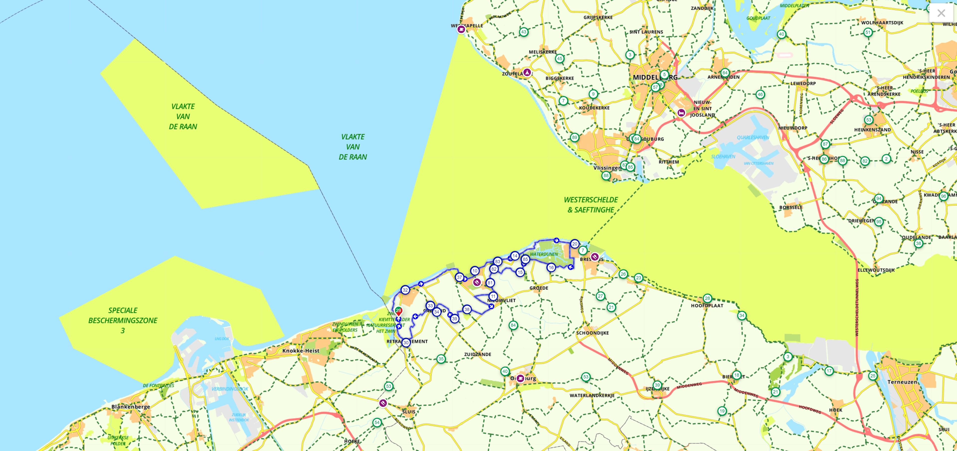 Panoramaroute fietsroute nederland