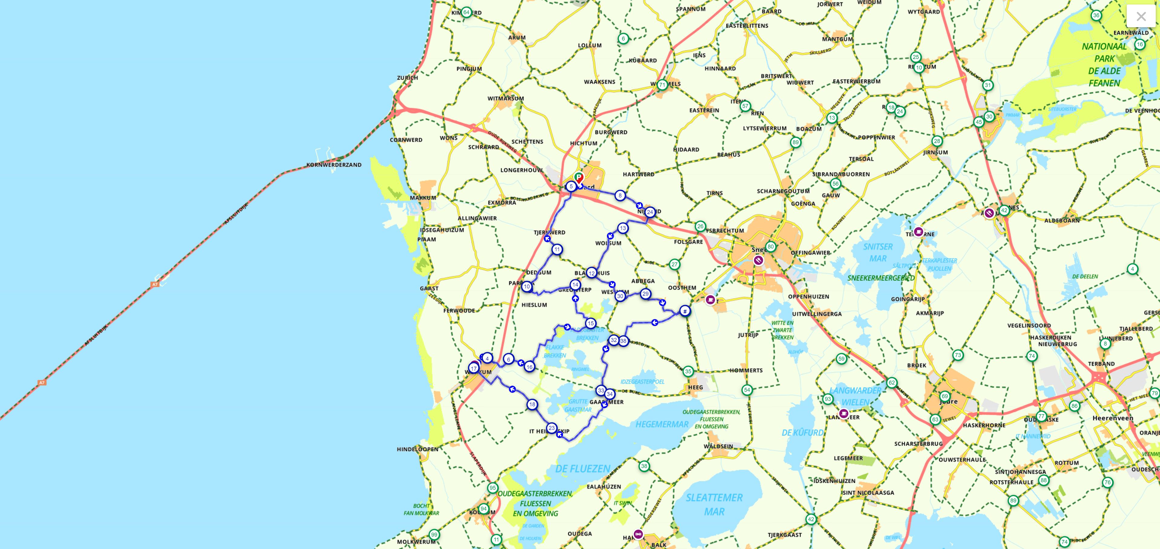 fietsroutes door Nederland De Lytse Marren