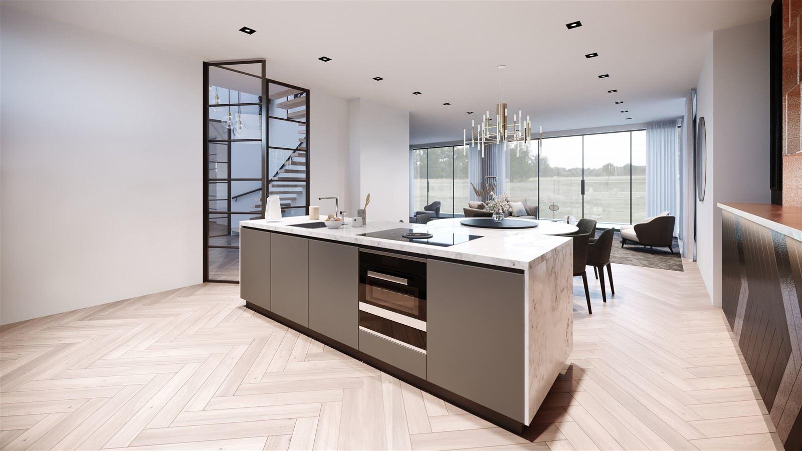 luxe moderne keuken met kookeiland