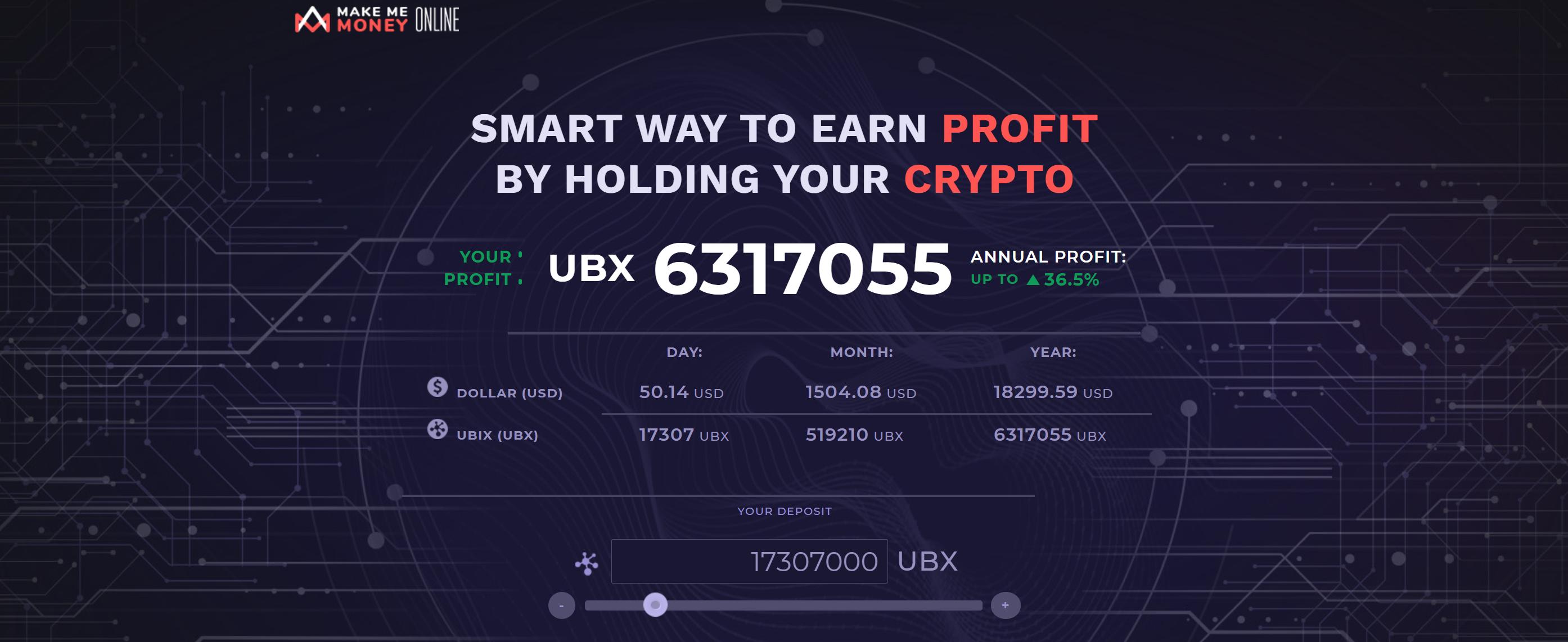 Check hoeveel winst je maakt met UBX-tokens UBIX