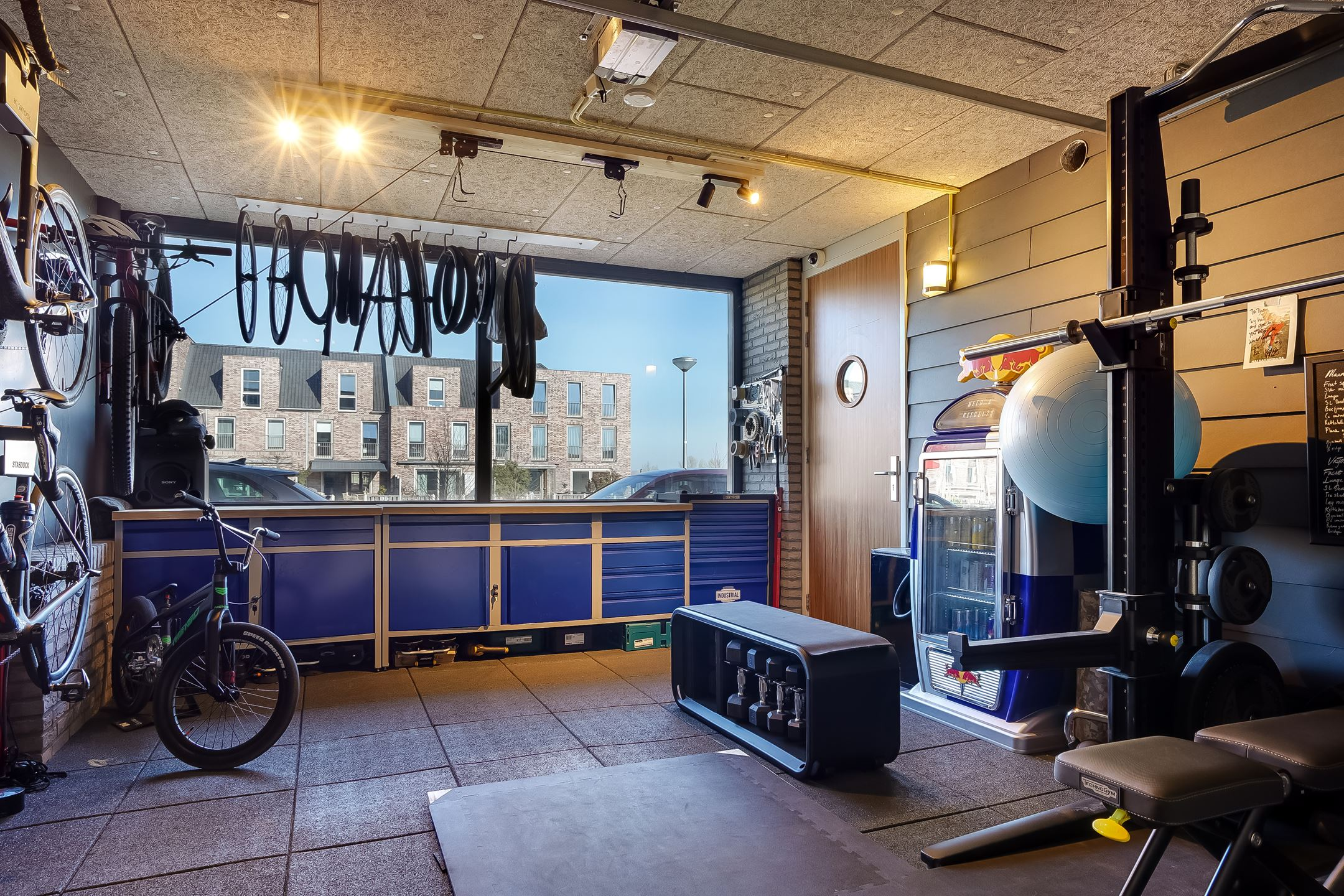 garage fitnessruimte