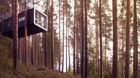Het 'Treehotel' heeft de gruwelijkste kamers in bomen