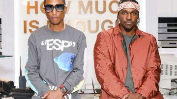 Pharrel Williams showt zijn schreeuwende horloge ter waarde van $1.000.000