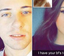 Jongen neemt zijn vriendin geniaal in de zeik met Snapchat filter