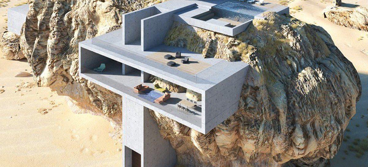 Dit bizarre huis in een rotsblok is architectuur van de bovenste plank