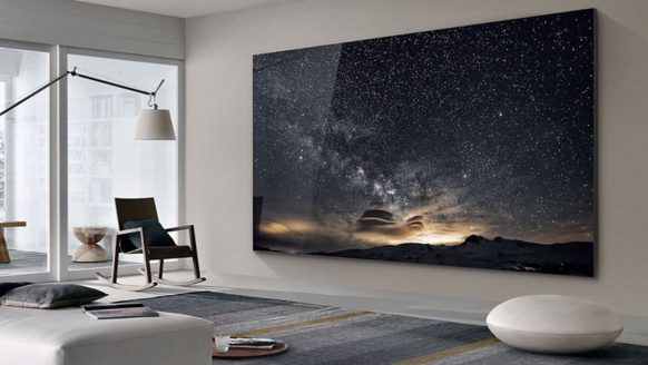 Deze nieuwe Samsung Tv heeft een formaat van 219 (!) inch
