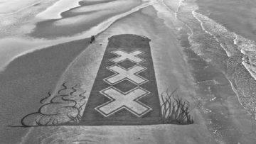 Deze Nederlandse man maakt de tofste strandkunst
