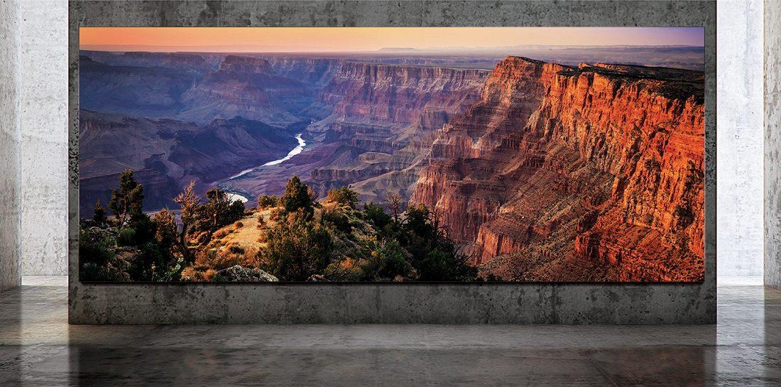 Deze enorme Samsung tv heeft een formaat van 292 (!) inch