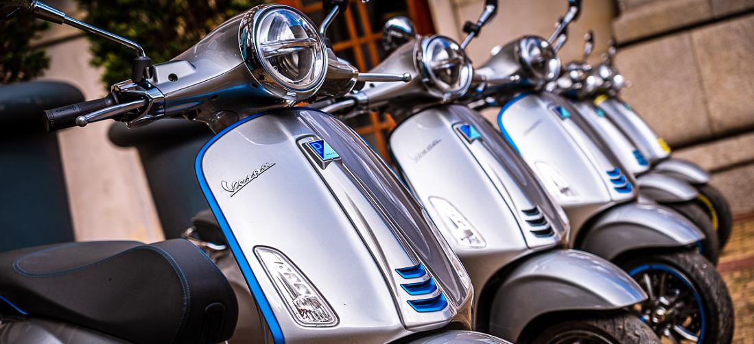 De Vespa Elettrica is een scooter van een nieuw level