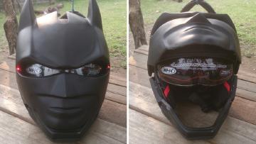 Dit bedrijf verkoopt leipe Batman, Deadpool en Black Panther motorhelmen