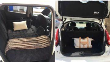 Bijzondere Airbnb: vrouw verhuurt auto achterbank voor €9 per nacht