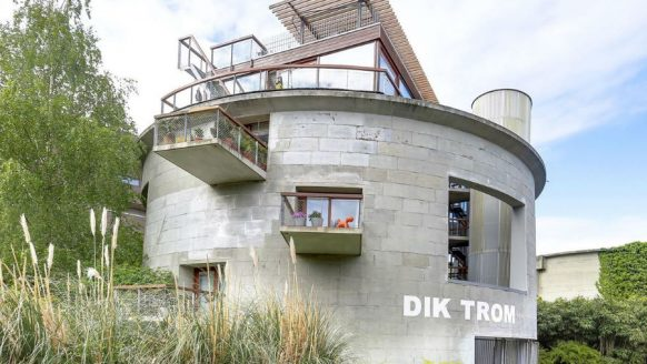 Oude rioolwaterzuiveringston omgetoverd tot luxe penthouse in Amsterdam