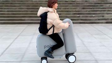 Geniaal: Japanners ontwikkelen opblaasbare elektrische scooter