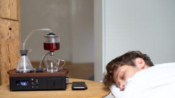 De Barisieur 2.0 is de perfecte wekker voor koffie en thee liefhebbers