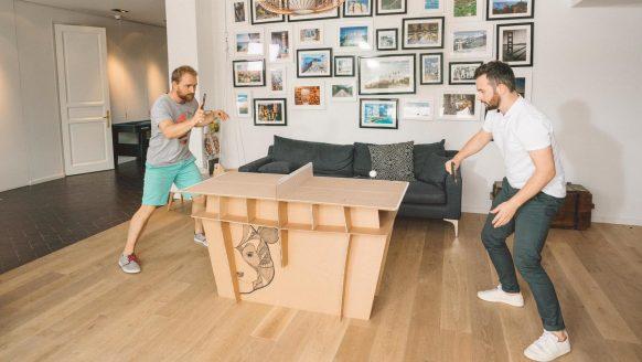 Decathlon verkoopt geniale mini pingpongtafel bouwkit voor een paar tientjes