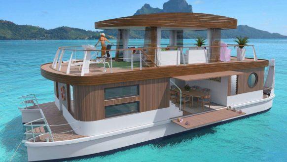 Met 8 vrienden in deze watervilla varen bij Bora Bora is dé droomvakantie