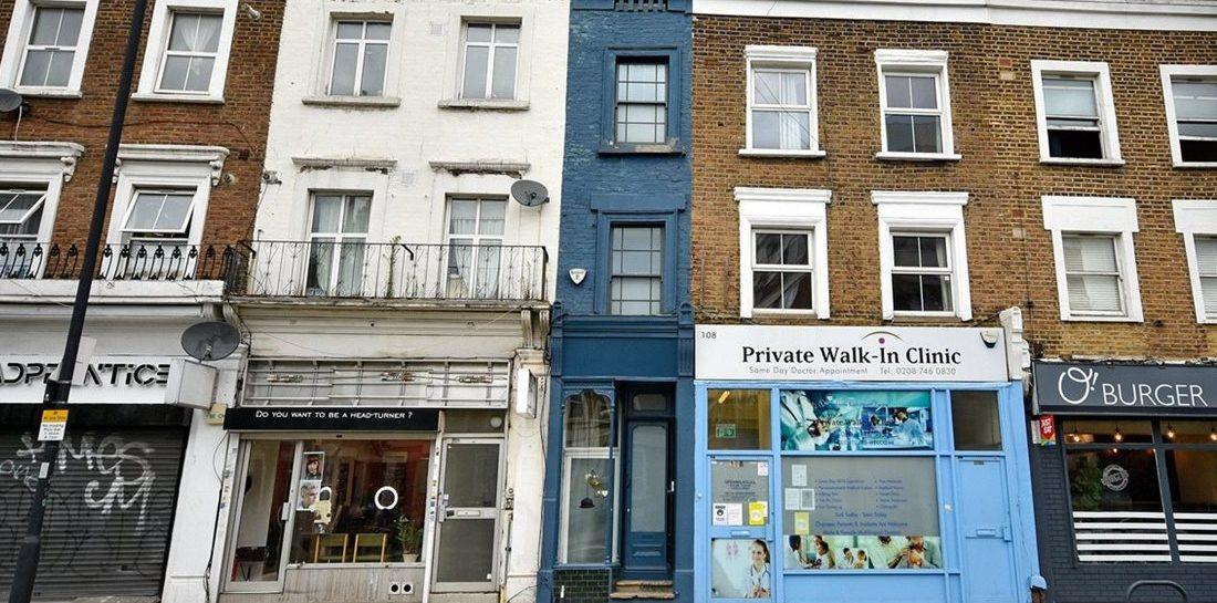 Het smalste huis van Londen staat nu te koop voor een uitzinnig bedrag