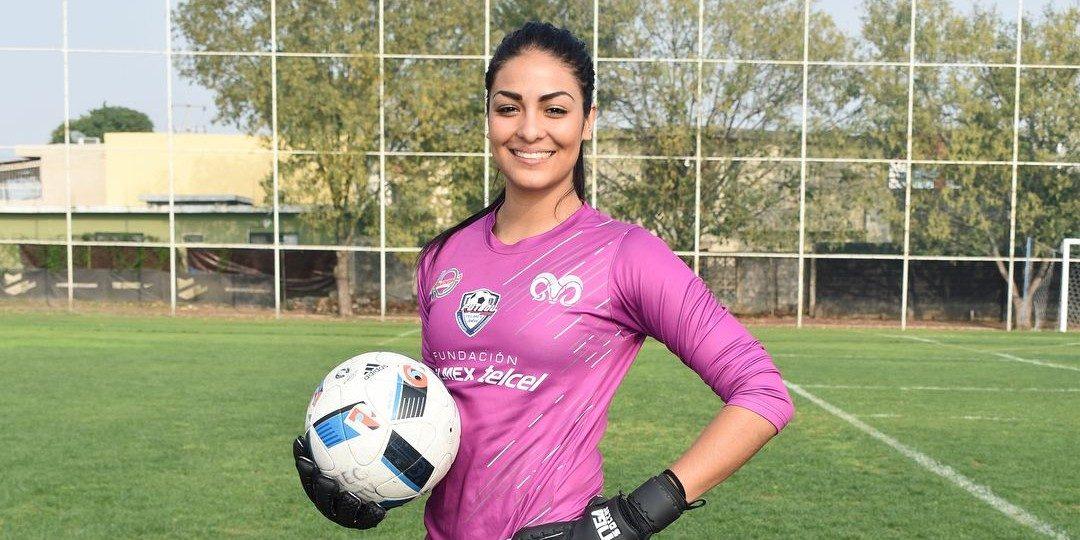 De beelden van de Mexicaanse doelvrouw Stefani Jiménez gaan de wereld rond