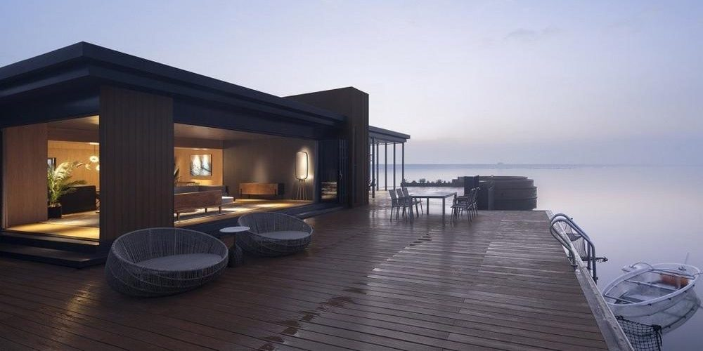 Chinese zakenman bouwt droomvilla midden op de oceaan