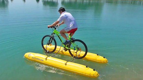 Met dit DIY-pakket verander jij jouw normale fiets of e-bike in een waterfiets