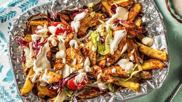 Recept: gezonde kapsalon met kip en zelfgemaakte knoflooksaus